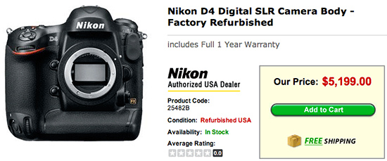 Refurbished-Nikon-D4