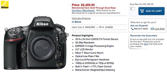 Refurbished-Nikon-D800