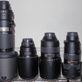 Nikkor tele zoom size comparison