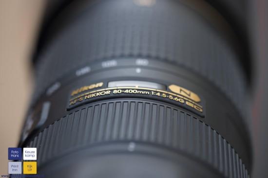 Nikon AF-S 80-400mm f4.5-5.6G ED VR lens 1