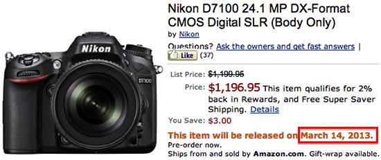 Nikon-D7100-shipping-date