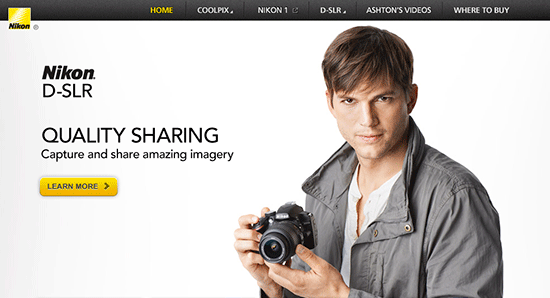 Ashton-Kutcher-Nikon-spokesman