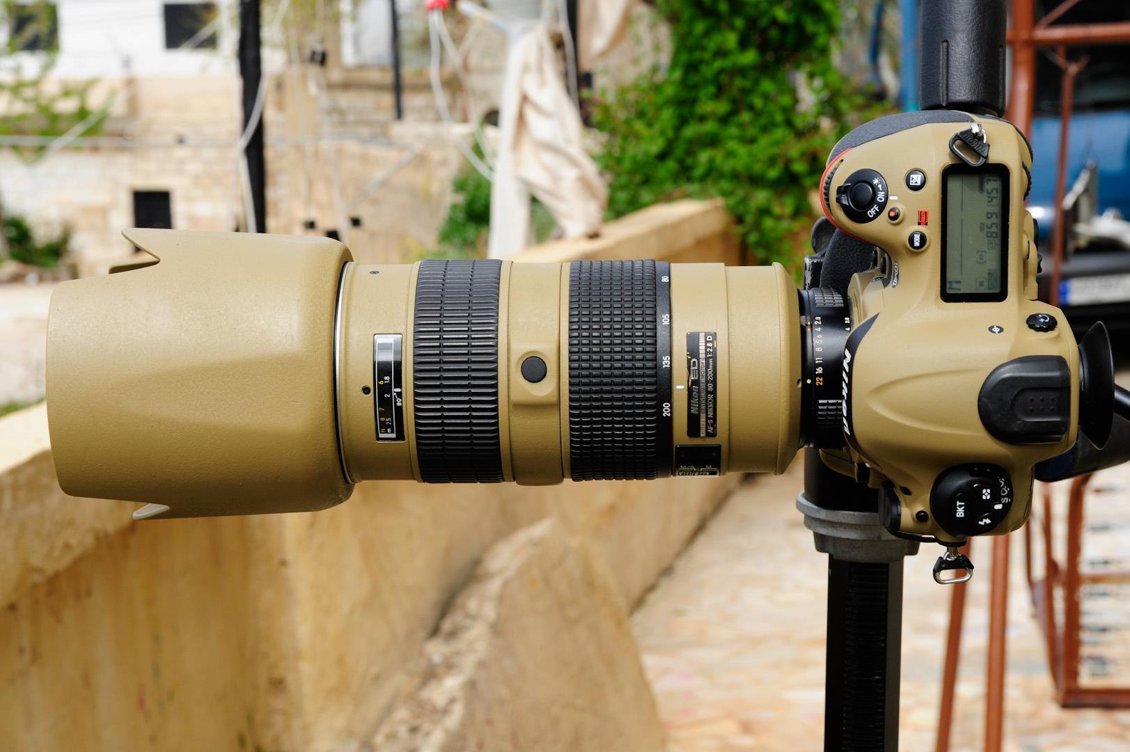 Military Grade Quot Desert Mirage Lizard Quot Painted Nikon Gear