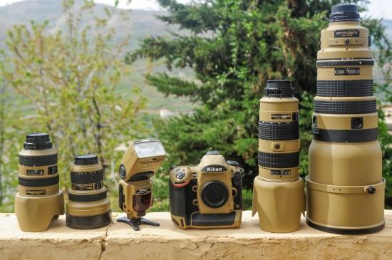 Desert Lizard Camo Nikon gear