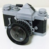 Lego Nikon DSLR camera