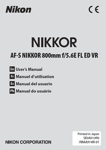 Nikkor-AF-S-800mm-f5.6E-FL-ED-VR-lens-user-manual