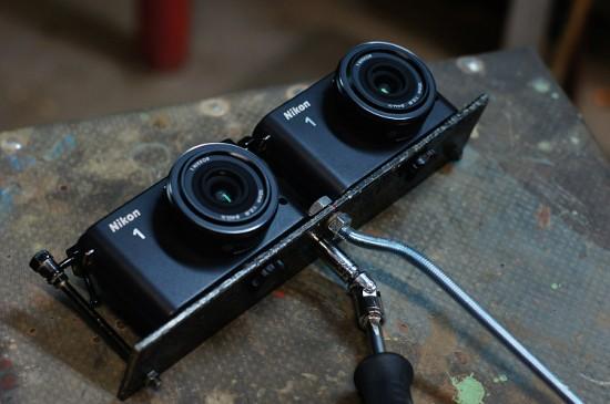 Nikon 1 J1 3D rig (2)