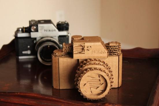 Nikon F camera made from cardboard