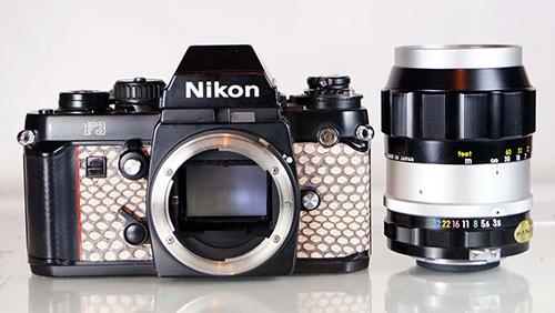 Nikon-F3-with-python-snake-skin