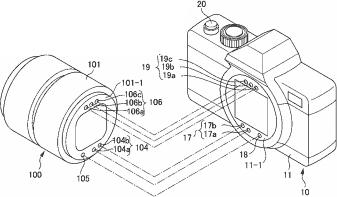 Nikon duplicated electronic mount contacts