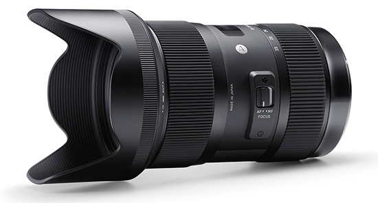 Sigma 18 35mm f1.8 DC HSM lens with hood Its real: Sigma 18 35mm f/1.8 DC HSM lens announced