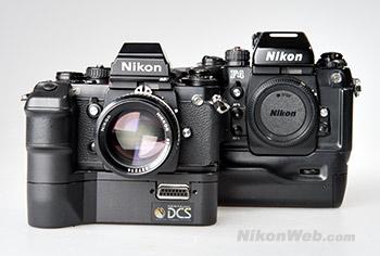 F3 based Kodak DCS (1991) and Nikon F4 (1988)