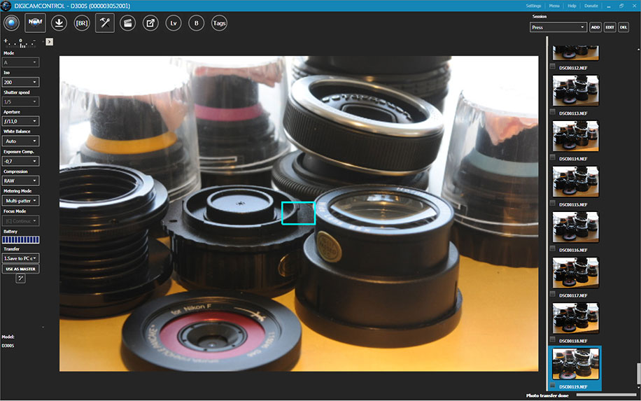 Free open source tethering software for Nikon DSLR cameras
