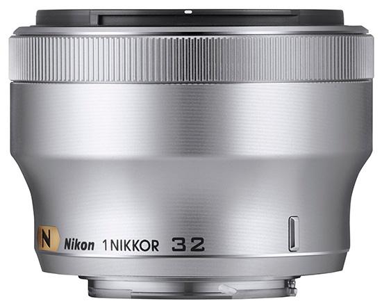 Nikon-1-Nikkor-32mm-f1.2-lens-silver