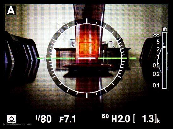 Nikon Coolpix A virtual horizon
