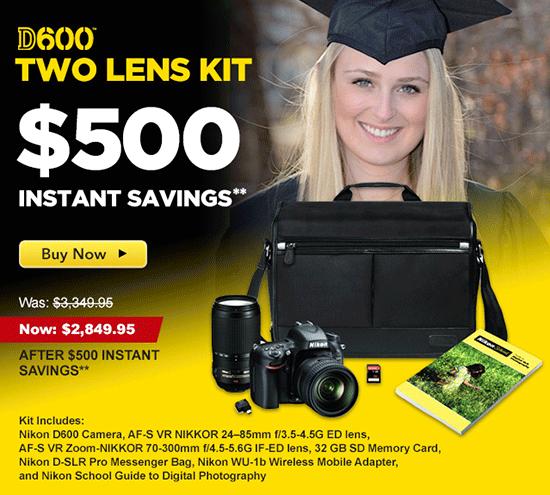Nikon-D600-two-Nikkor-lens-kit-savings