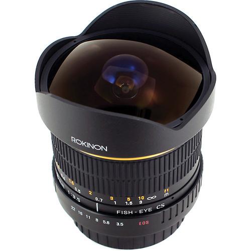 Rokinon 8mm ultra wide angle f3.5 fisheye lens for Nikon F mount