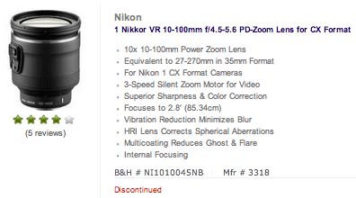 Nikon-1-Nikkor-VR-10-100mm-f4.5-5.6-PD-ZOOM-lens-discontinued