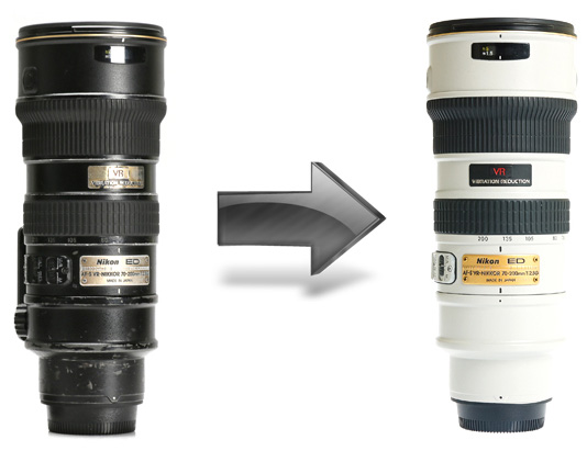 Old-Nikkor-lenses-restored-and-painted-white