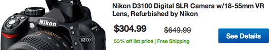 Refurbished-Nikon-D3100-sale