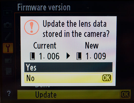 Nikon Distortion Control Data firmware update 1.009 released