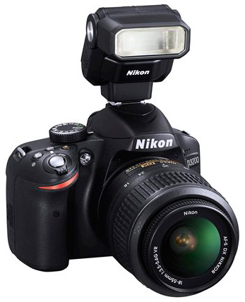 Nikon-D3200-DSLR-camera-with-SB-300-Speedlight-flash