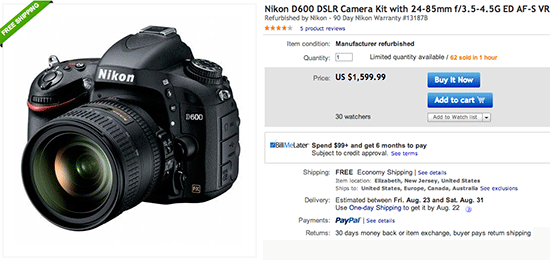 Nikon-D600-refurbished-kit-sale