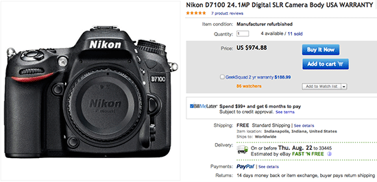 Refurbished-Nikon-D7100-DSLR-camera-deal