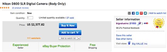 Nikon-D800-price-drop-on-eBay