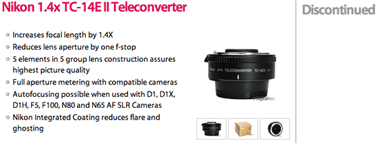 Nikon-TC-14E-II-teleconverter-listed-as-discontinued