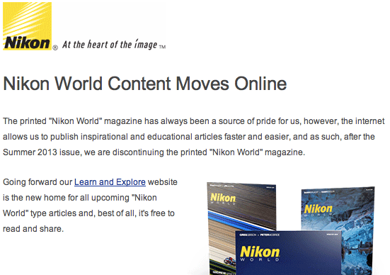 Nikon-World-magazine-is-gone