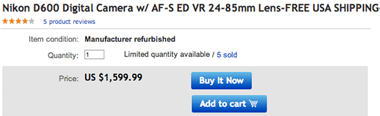 Refurbished-Nikon-D600-deal