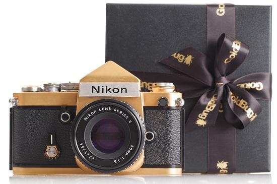 18-carat-gold-plated-Nikon-SLR-camera
