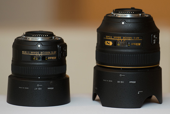 Nikkor-58mm-f1.4G-vs-50mm-f1.8G-lens