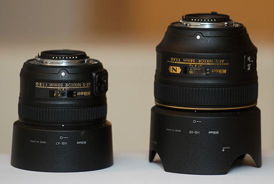 Nikkor-58mm-f1.4G-vs-50mm-f1.8G-lens