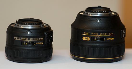 Nikon-58mm-f1.4G-vs-50mm-f1.8G-lens