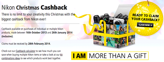 Nikon-Christmas-Cashback-program-UK