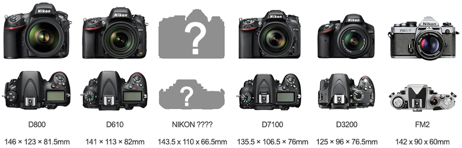 Nikon-DSLR-size-compariosn