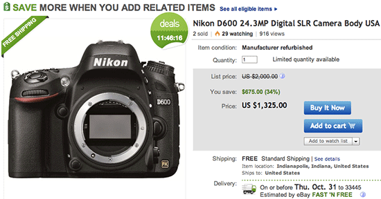 Refurbished-Nikon-D600-deal
