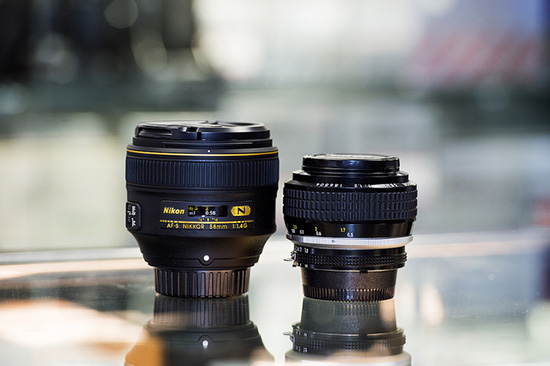 Nikon-58mm-f1.4G-vs-Noct-58mm-f1.2-lens