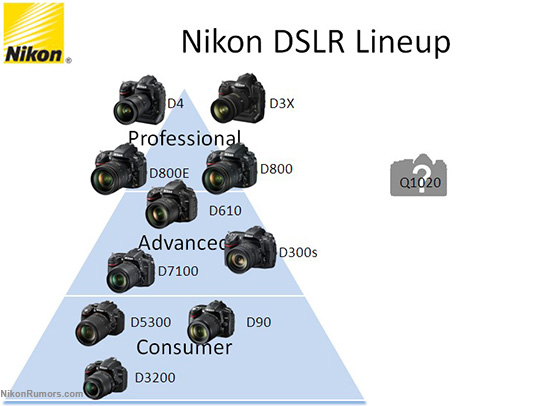 Nikon Dslr Lineup And The New Df Camera Nikon Rumors