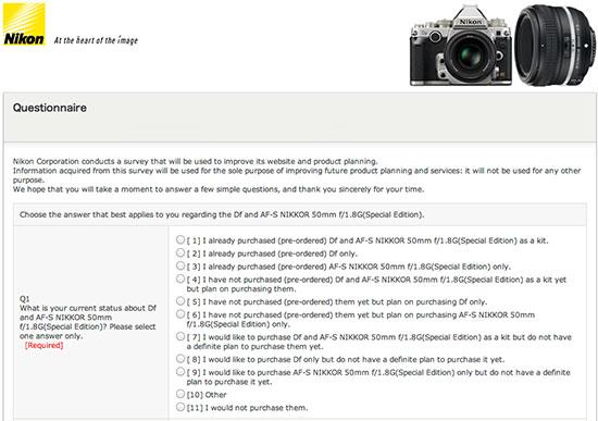 Nikon-Df-camera-official-questionnaire