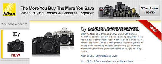 Nikon-Df-instant-rebate-savings