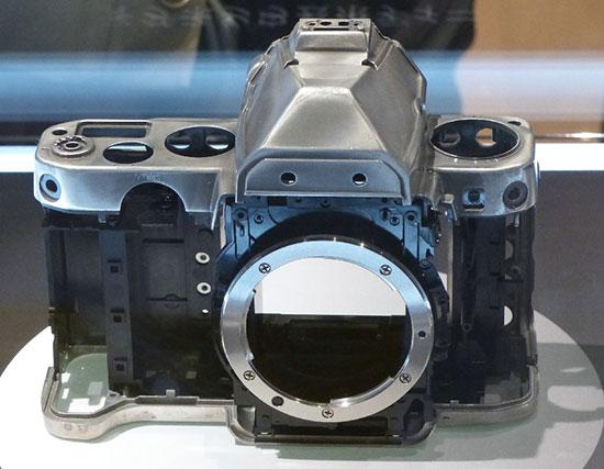 Nikon-Df-magnesium-alloy-body-frame