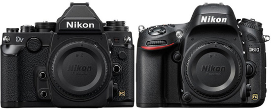 Nikon-Df-vs.-Nikon-D610-specifications-comparison