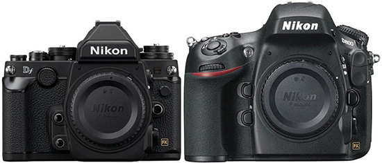 Nikon-Df-vs.-Nikon-D800-specifications-comparison