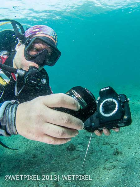 Nikon-camera-underwater-without-housing