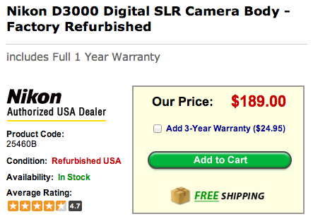 Refurbished Nikon D3000