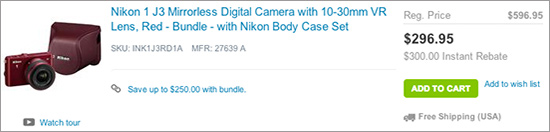 Nikon-1-J3-kit-sale-at-Adorama