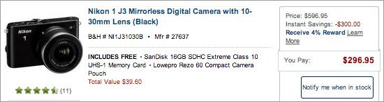 Nikon-1-j3-sale-at-BandH